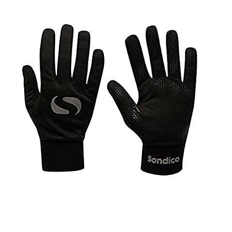 Sondico Football Outfield/Field Player Thermal Fleece Lined Gloves childrens childs Junior BOYS or GIRLS (Age 11 - 12)
