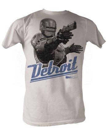 Preisvergleich Produktbild Robocop Detroit Erwachsene silber T-Shirt (Large)
