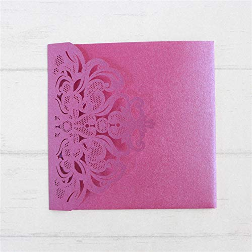 AOWEIRILUV 50 PC weiche rosa Hochzeits-Einladungs-Karten-Brautheirat Laden Drucken EIN