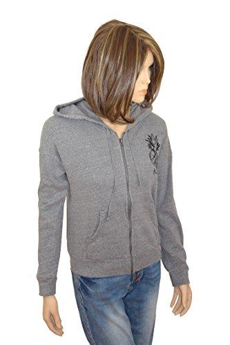 Hollister Damen Wife Girl Hoodie Sweatjacke Jacke Shirt Kapuze langarm grau *** 352-527-0726-012 *** longsleeve Baumwolle (S)