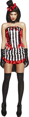 Fever, Damen Madame Vamp Kostüm, Rock, Oberteil und Hut, Größe: S, 32953 (Vamp Kostüm Ideen)