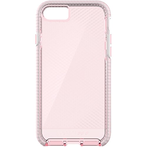 los angeles 7b08d 6c6e0 Tech 21 T21-5331 Evo Check Case with FlexShock for Apple iPhone 7 - Light  Rose/White