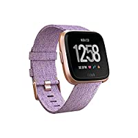 Fitbit Versa Special Edition Smartwatch, Lavender Woven, One Size (S & L Bands Included)