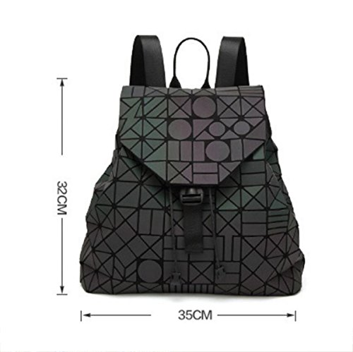 Damen Rucksack Geometrische Schultertasche Japanisch Falten Im Freien Aufbewahrung Tragbare Tasche A
