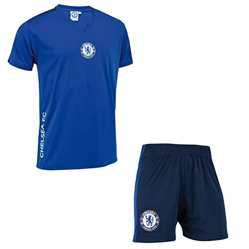 Minikit Trikot + Shorts Chelsea FC - Offizielle Sammlung - Junge Kindergröße 6 Jahre