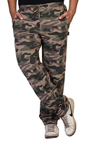 Clifton Men's Army Knitted Cotton Track Pant (1968071031_Walnut_Xx-Large)