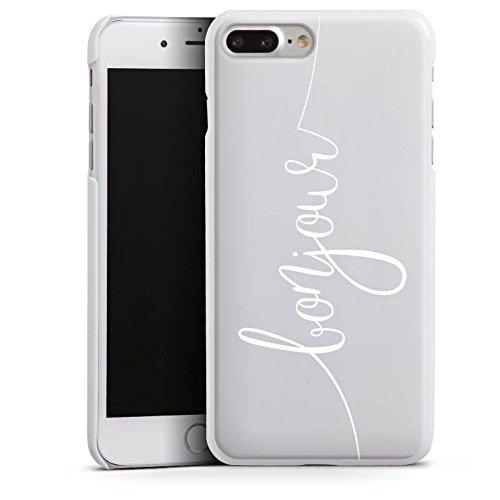 Apple iPhone 7 Silikon Hülle Case Schutzhülle Bonjour ohne Hintergrund Frankreich Hard Case weiß