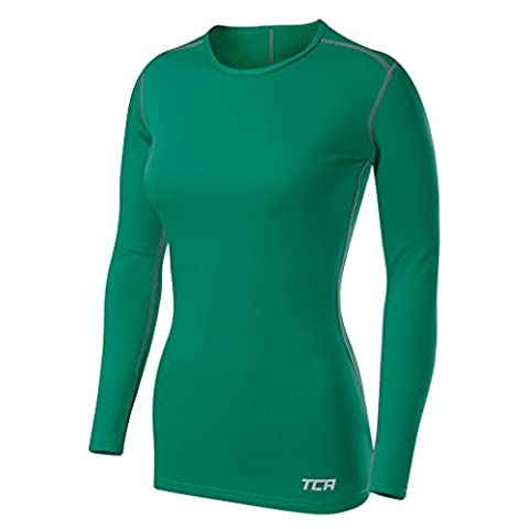 TCA SuperThermal Base Layer Damen Laufshirt Langarm Funktionsshirt - Grün, L