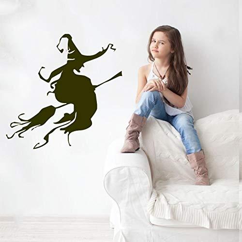 er Hexen Hut Wohnkultur Halloween Poster Kunst PVC Zimmer Wandaufkleber Entfernen 42 * 42 cm ()
