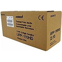 Sony Corporation UPP110HD Kit 10 pezzi di carta termica ad alta densità per stampante medicale, A6, 110mm x 20m