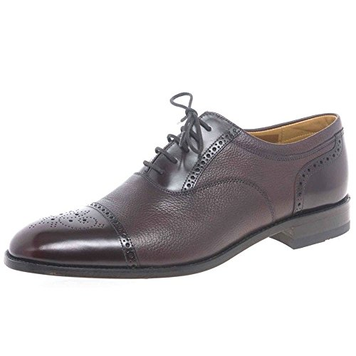 Loake Mens 'WOODSTOCK' Burgundy Two-Tone Tie Shoe. 6.0