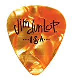 Dunlop 483 Picks GENUINE CELLULOID CLASSIC orange Perloid, Medium