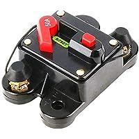 ZengBuks 50A 60A 80A 100A 125A 150A 200A 250A Opcional Fusible de Interruptor de Circuito de Audio para automóvil en línea para protección de 12 V SKCB-01-100A - Negro
