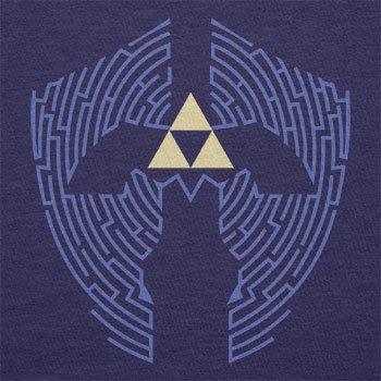TEXLAB - Triforce Labyrinth - Herren Langarm T-Shirt Navy