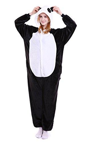 LazLake Jumpsuit Tier Fasching Pyjama Kostüm Onesie Overall Schlafanzug Erwachsene Unisex Kigurumi Panda XL
