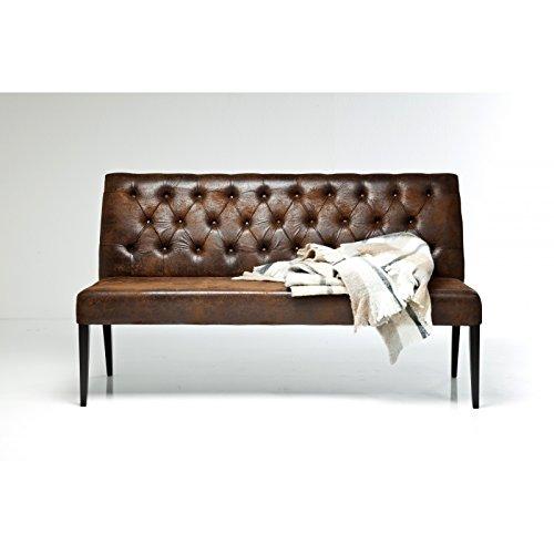 preisvergleich polsterbank econo buttons vintage braun gepolsterte willbilliger. Black Bedroom Furniture Sets. Home Design Ideas