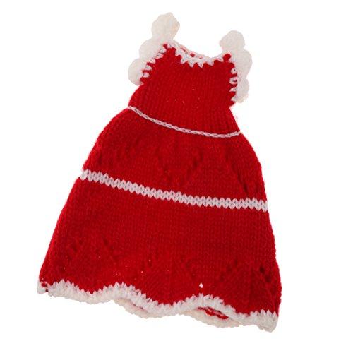 MagiDeal Handgemacht Puppenkleid Gestreiften Strickkleid Für 1/6 Kurhn Puppe Party Dress Up - Vier Stile zu wahlen - # A -