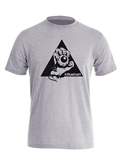 Illuminati Killuminati Faust - Herren TShirt Grau / Schwarz