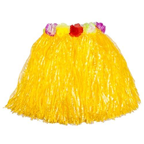 stoff-Fasern Frauen Grass Skirts Hula Rock Hawaiian Kostüme Kinder Verkleiden Festliche & Party Supplies (Yellow, 30cm) ()