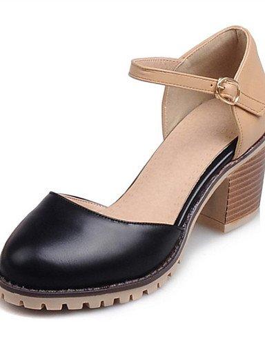 WSS 2016 Chaussures Femme-Mariage / Extérieure / Habillé / Décontracté-Noir / Rose / Blanc / Beige-Gros Talon-Talons-Talons-Similicuir pink-us8.5 / eu39 / uk6.5 / cn40