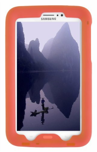 Tablet 4g Case Samsung Lite (Bobj Silikon-Hulle Heavy Duty Tasche fur Samsung Galaxy Tab 3 7-inch Tablet, WiFi und 3G 4G modelle. Auch für Tab3 Kinder Ausgabe. (Nicht fur Tab3 Lite, Tab2) - BobjGear Schutzhulle (Orange))
