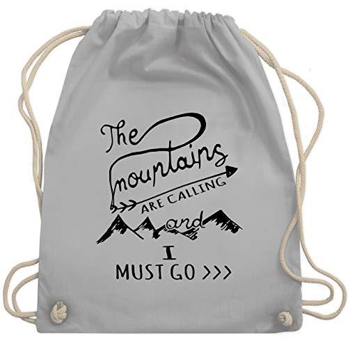 Wintersport - The Mountains are calling - Unisize - Hellgrau - WM110 - Turnbeutel & Gym Bag