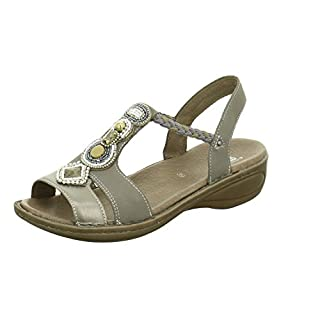 ara 12-37275 Womens Gray Leather Sandals, 7 UK
