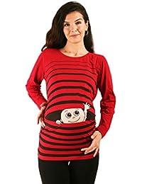 fc5db05cf84c M.M.C. Ciao Ciao - Premaman Abbigliamento Donna Magliette Premaman T-Shirt  Divertente Gravidanza - Maniche