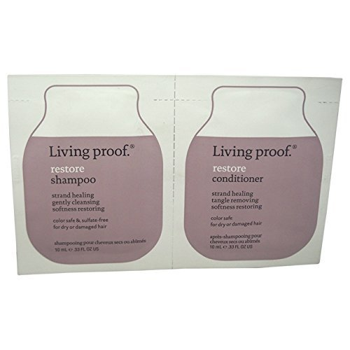 Living Proof Restore Shampoo and Conditioner Duo for Unisex, 0.33 oz by Living Proof
