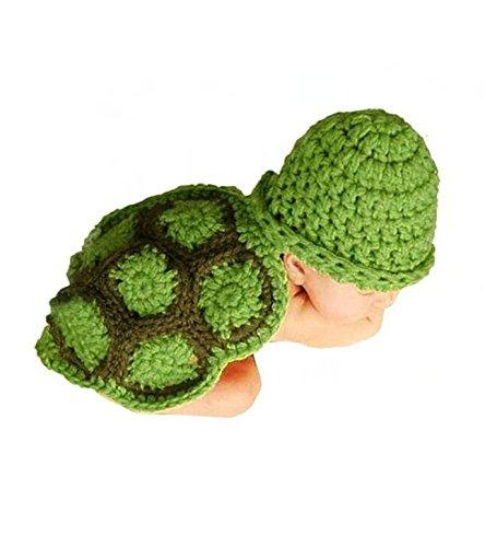 r Für Baby/Kleinkinder Handgefertigt Häkelware Fotografie Kostüm (Schildkröte) (Kostüm Schildkröte)