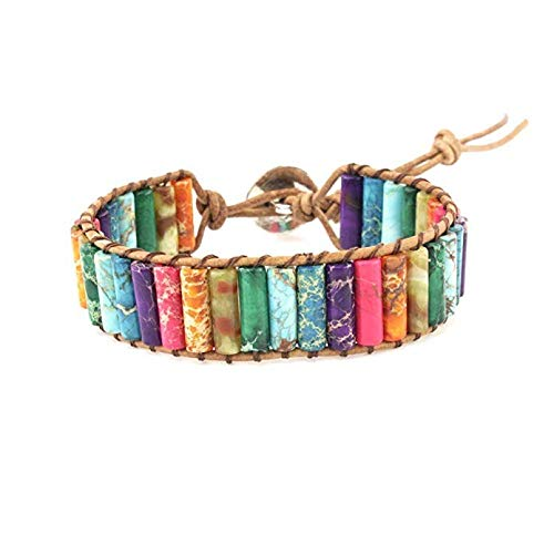 LHWY Damen Schmuck Perlen Frauen Männer Kristall Charm Bracelets Multilayer Bangles Candy Color (Bracelet Charm Männer)