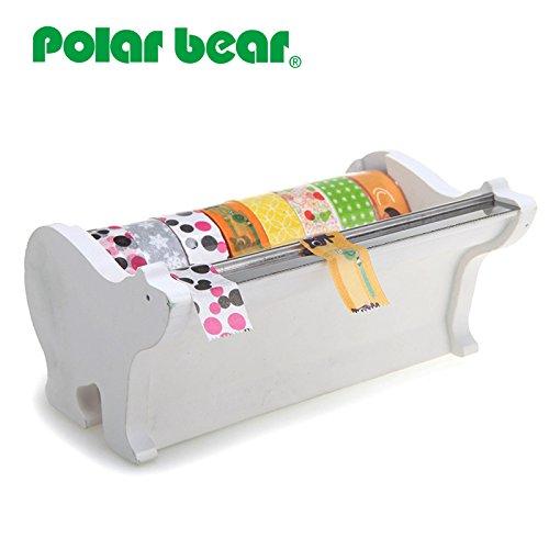 Polar Bear Multi Rolle Tischabroller, inkl. 8Rollen Washi Tape (15mm x 9,14m jeweils), 2,5cm Core