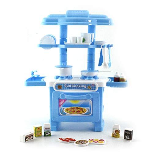 EisEyen 32 Teile Kinder Spielhaus Spielzeug Mädchen Licht Geschirr Sets Baby Spielzeug Küche Kochen Simulation Modell Glückliche Küche Pretend Play Spielzeug