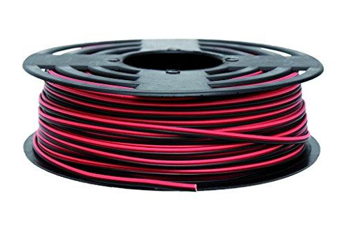 COFAN 51002675-Rolle Kabel Parallel (2x 0.75mm, 100m) Rot/Schwarz -