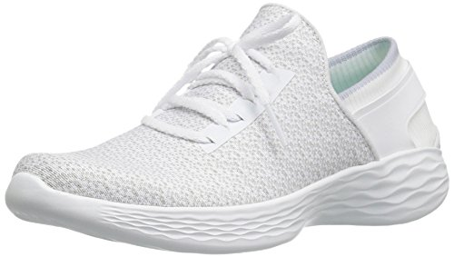 Skechers Damen You-Inspire Slip On Sneaker, Weiß (White), 36 EU (3 UK) (Skechers Schuhe Frauen Breite)