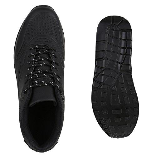 Damen Herren Unisex Laufschuhe Profil Sohle Sportschuhe Fitness Schuhe Schwarz Autol