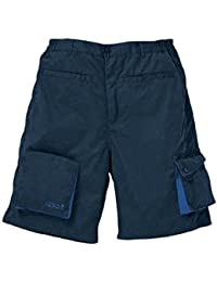 Panoply - Bermuda de travail mach2 en polyester coton M2BER - Couleur : Bleu Marine / Bleu Roi - Taille : Xl