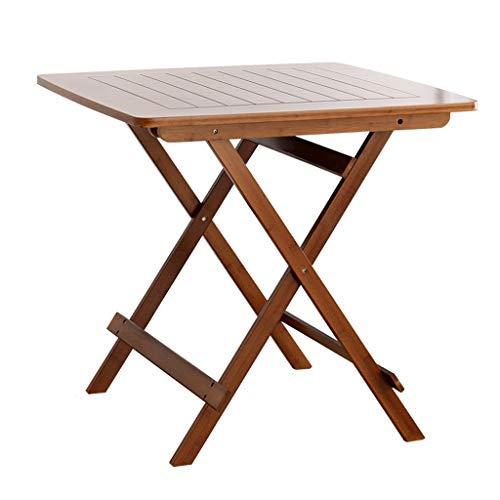 ZhuFengshop Laptop Tisch Klapptisch Hocker Bambus Tragbarer Tisch Klapptisch Einfacher Haushalt Kleiner Apartmenttisch Kleiner quadratischer Tisch Braun Schreibtisch Klapptisch, Sofa, Krankenhaus, Rei