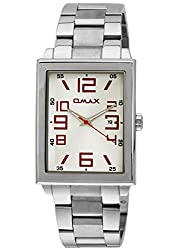 OMAX Analog White Dial Mens Watch - SS209