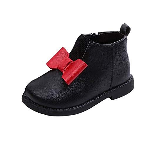 TPulling Winter Kinder Kid Mädchen Warme Bowknot Leder Martin Kurze Stiefel Schuhe