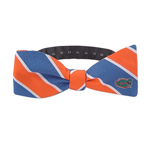 ZEP-PRO NCAA Woven Silk Repp Stripe Collegiate Logo Bow-Tie 1