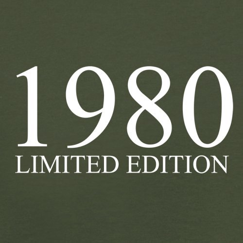 1980 Limierte Auflage / Limited Edition - 37. Geburtstag - Herren T-Shirt - 13 Farben Olivgrün