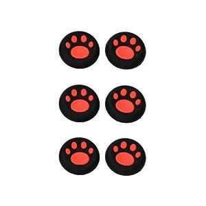 OSTENT 6 x farbenfrohen analogen Joystick Button Protector kompatibel für Xbox One Controller – Farbe rot