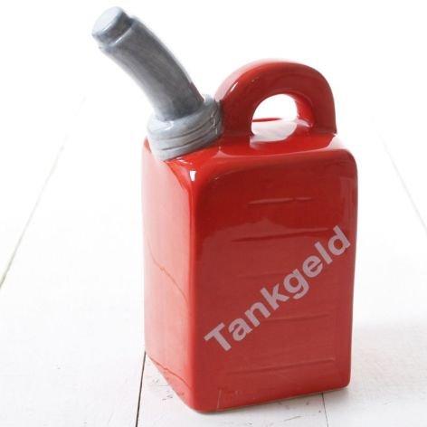 spardose-keramik-benzin-kanister-rot-mit-schrift-grau-tankgeld-mit-schloss-9x55x14cm-2-stuck