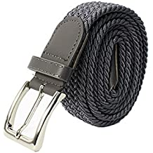 2ec1a46e51e9 Glamexx24 Unisexe Tissu élastique Ceinture tressée Stretchbelt ceinture  étirable pour les hommes ...