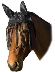 United Sportproducts Germany USG 3898 Bonnet en coton avec protection oreilles et franges pour demi-sang (Noir)