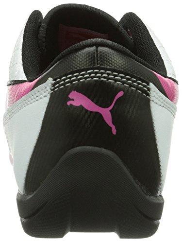 Puma Drift Cat 6 L Jr, Unisex-Kinder Sneakers Weiß (white-fuchsia purple-black 02)