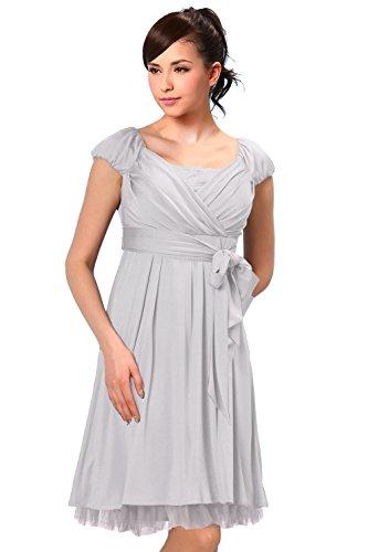 SO0095 Robe de grossesse de soirée et de cérémonie gray
