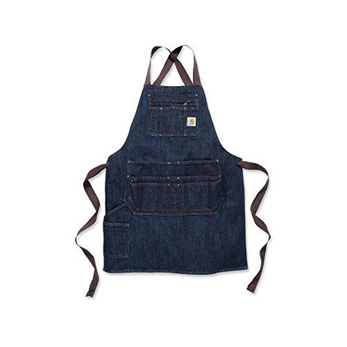 Carhartt Mens Polycotton Denim Strap Utility Tool Pocket Bib Apron, Dark Blue Ridge, Einheitsgröße (Carhartt Arbeit Jeans)