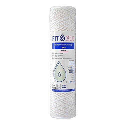 Fit aqua ac yrn 10–50filo sedimenti cartuccia del filtro acqua, 10pollici, 50micron